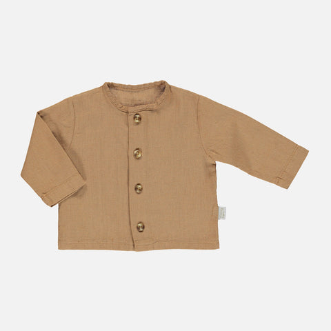 Linen/Cotton Ronce Blouse - Brown Sugar