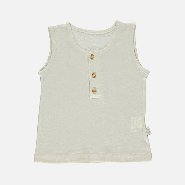 Linen Sureau Sleeveless Top - Almond Milk