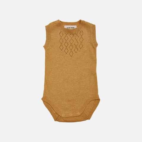 Organic Cotton Sleeveless Diamond Body - Straw