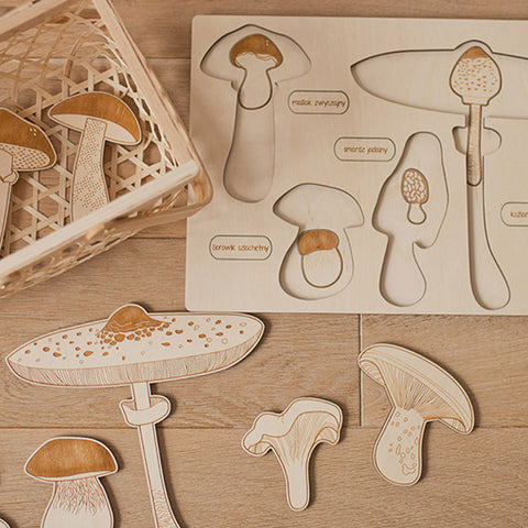 Wooden Puzzle - Spring Up Like Mushrooms