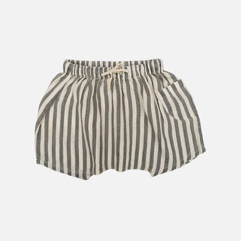 Organic Cotton Tommy Shorts - Flax Stripes
