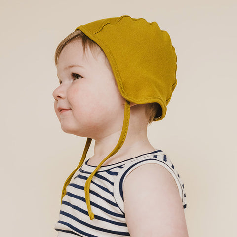 Organic Cotton Bonnet - Chartreuse