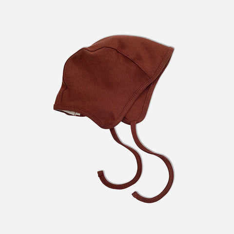 Organic Cotton Bonnet - Chestnut