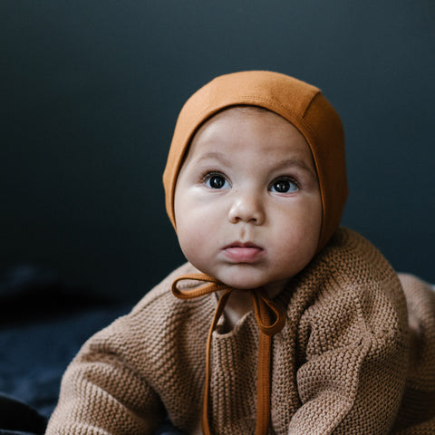 Cotton Bébé Acorn Bonnet
