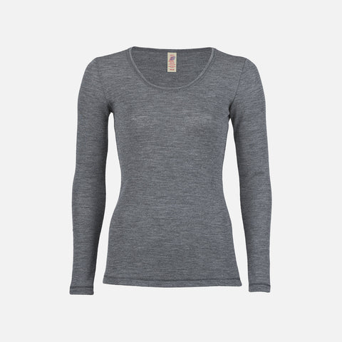 Organic Merino Wool Women's LS Top - Slate