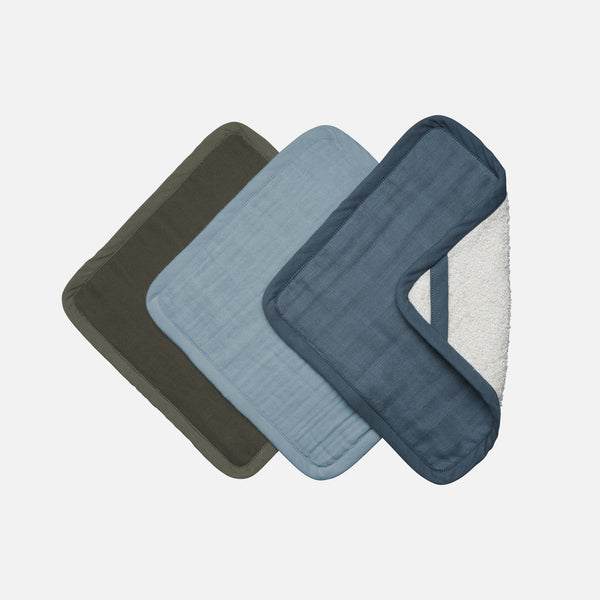 Organic Cotton Terry Washcloth set - Coastal