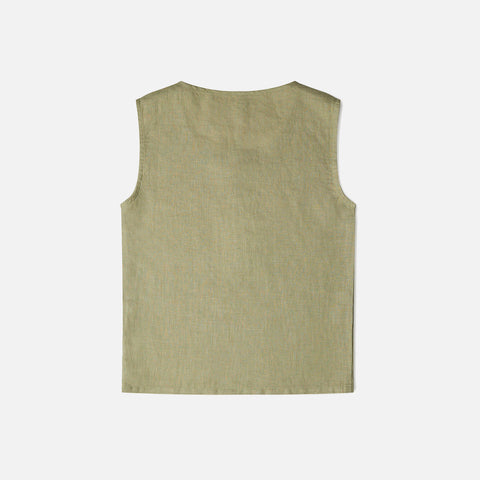 Linen Fawn Top - Sage