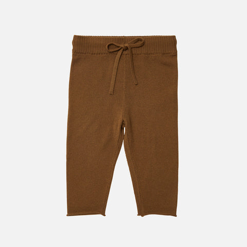 Merino Wool Straight Baby Pants - Sienna