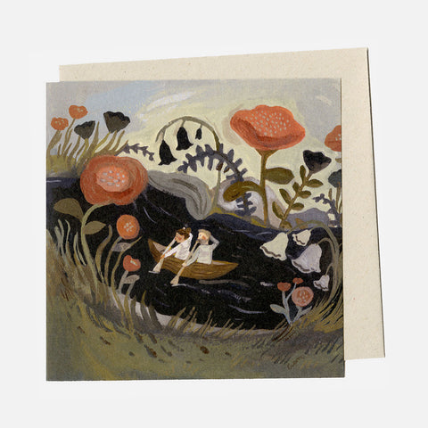 Greeting Card - Gently Up The Stream