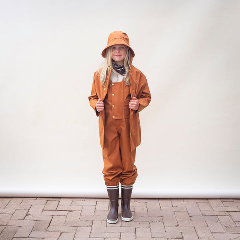 100% Waterproof Dungaree - Red Oak