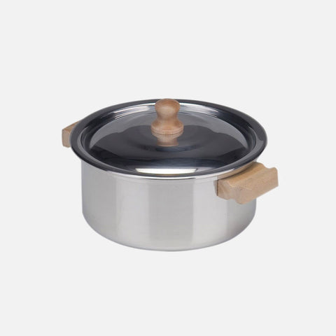 Child's Low Cooking Pot With Lid - Aluminium