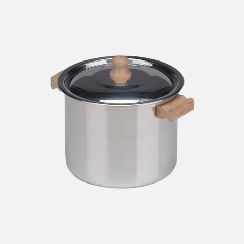 Child's Tall Cooking Pot With Lid - Aluminium