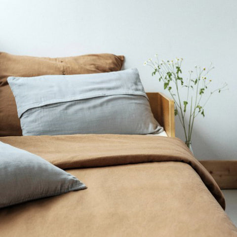 Linen/Cotton Muslin Duvet Cover - Brown Sugar - Various Sizes