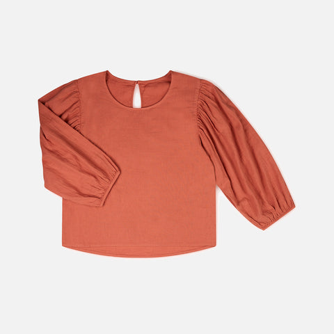 Women's Organic Cotton Jule Top - Persimmon