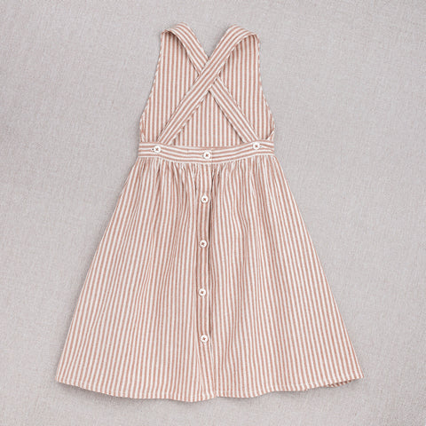 Cotton Hand Woven Zoé Dress - Rose Stripe