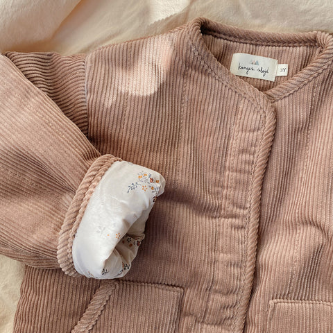 Organic Cotton Quilted Jacket - Rose Blush