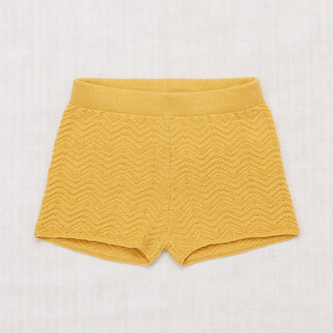 Cotton Chevron Shorts - Ochre