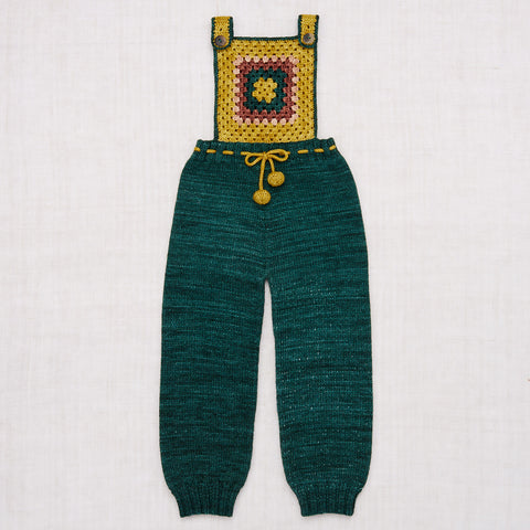 Hand Knit/Crochet Merino Wool Lake House Overalls - Laurel