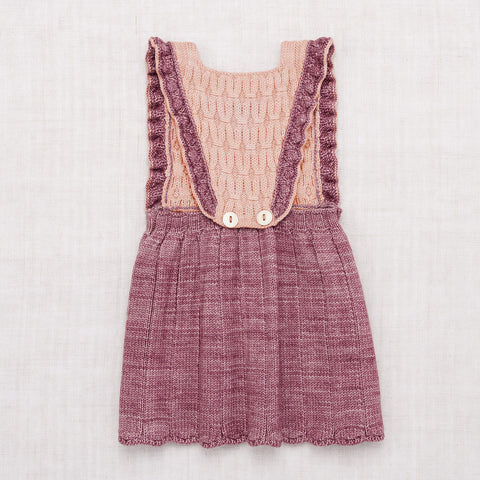 Hand Knit Merino Wool Louisa Pinafore - Antique Rose