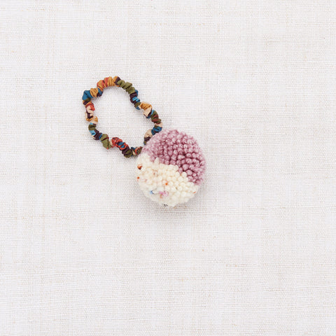 Merino Wool Pom Pom Hair Tie - Antique Rose