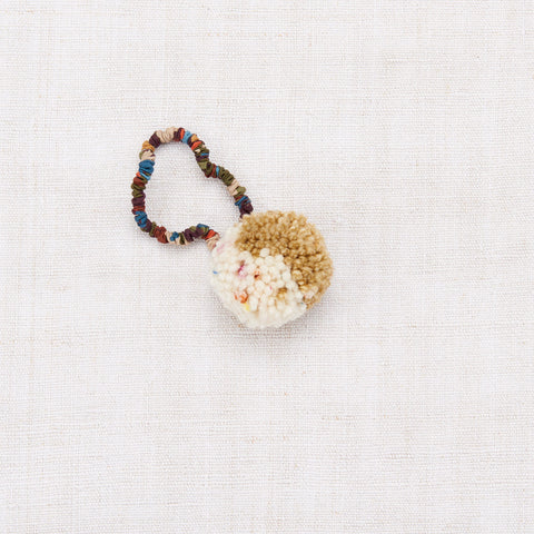 Merino Wool Pom Pom Hair Tie - Bronze