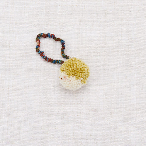 Merino Wool Pom Pom Hair Tie - Winter Wheat