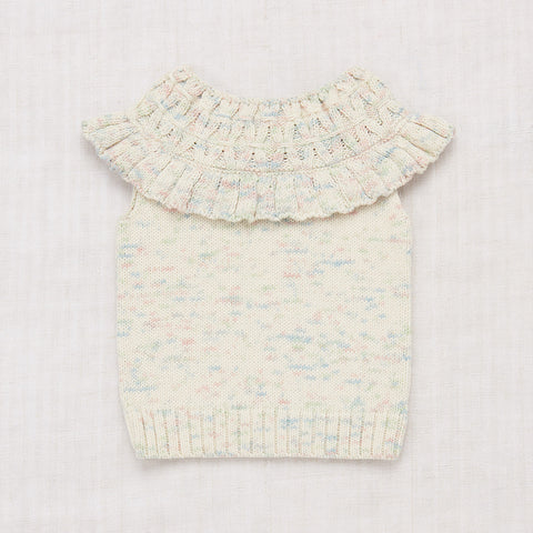 Cotton Hand Knit Smocked Top - Faded Space Dye