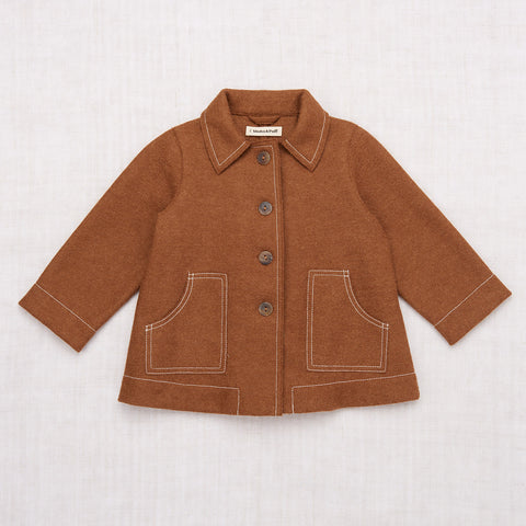 Alpaca Playhouse Coat - Dark Camel