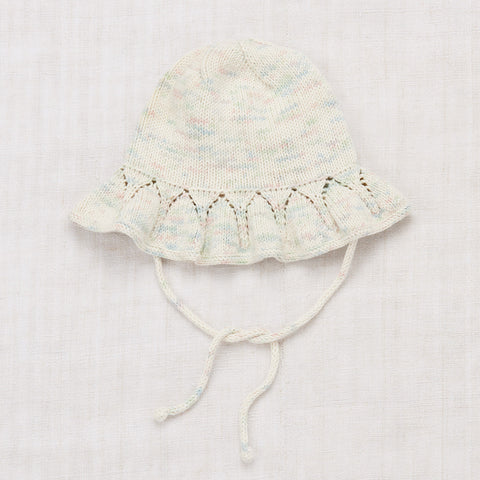 Cotton Hand Knit Starling Sunhat - Faded Space