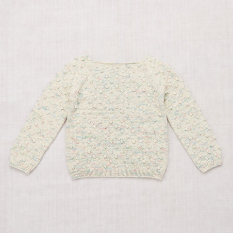 Cotton Hand Knit Summer Popcorn Sweater - Faded Space Dye