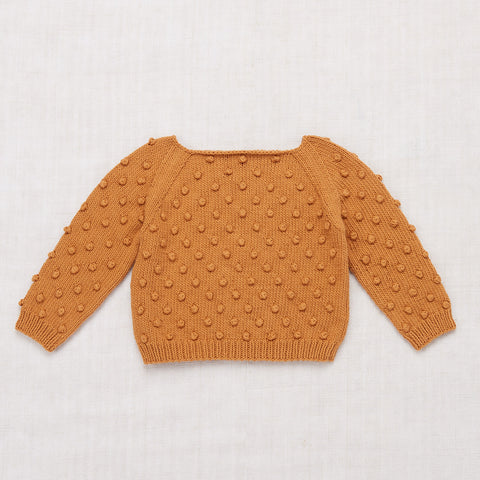 Cotton Hand Knit Summer Popcorn Sweater - Caramel