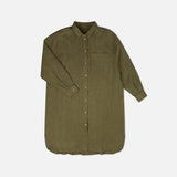 Women's Linen Pepi Shirtdress - Olive
