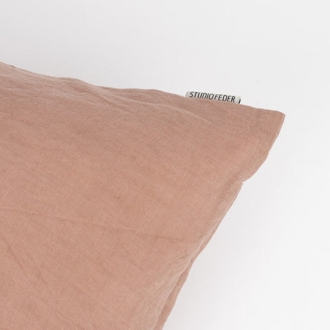 Cotton/Linen Cushion - Dark Powder