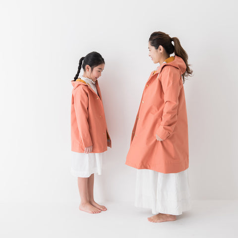 100% Waterproof Midi Raincoat - Clay