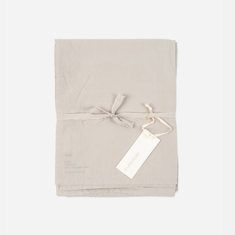 Organic Cotton Flat Sheet - Cloud - Single