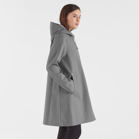 Women's Mosebacke Raincoat - Grey