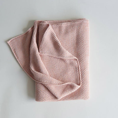100% Cotton Knitted Blanket/Swaddle - Rose