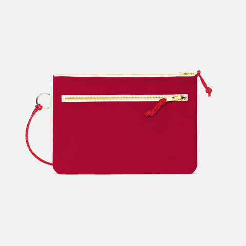 Cotton Canvas Pouch - Bordeaux