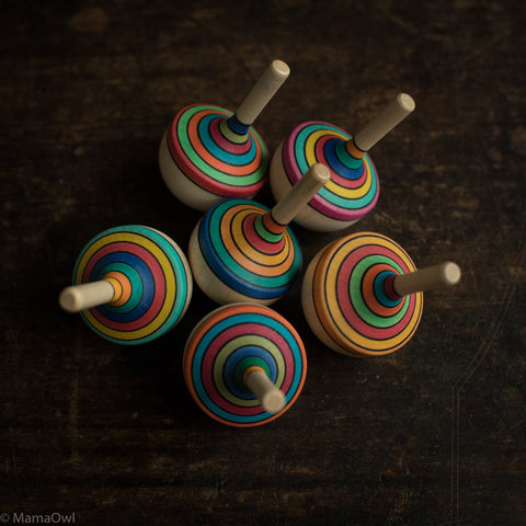 Traditional Striped Spinning Top