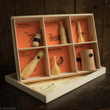 Handmade Wood Bird Callers - American Birds - Set of 6