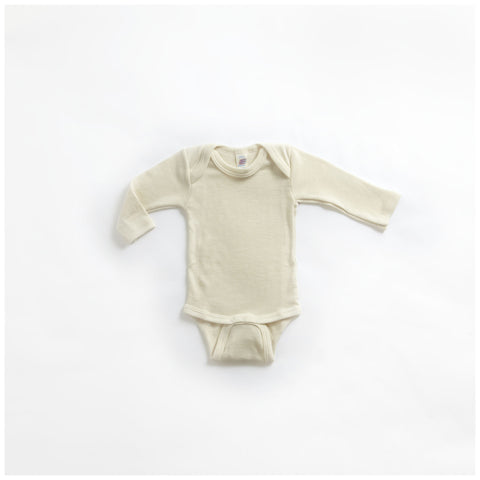Organic Silk & Merino Wool Body - Natural 0m-3y