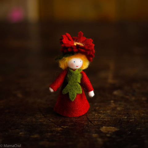 Handmade Autumn Wool Fairy - Michaelmas Daisy