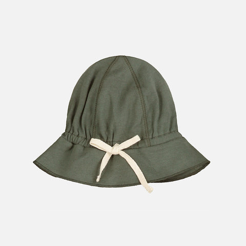 Organic Cotton Baby Sun Hat - Moss