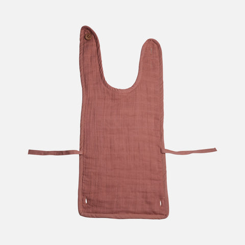 Organic Cotton Muslin/Terry Feeding Bib - Clay