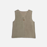 Organic Cotton Fleece Vest - Fog