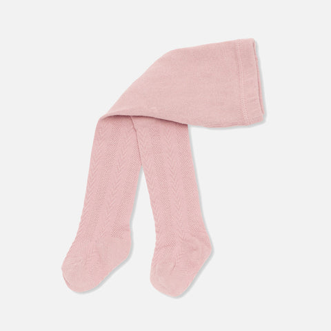 Organic Cotton Misa Pointelle Tights - Blush