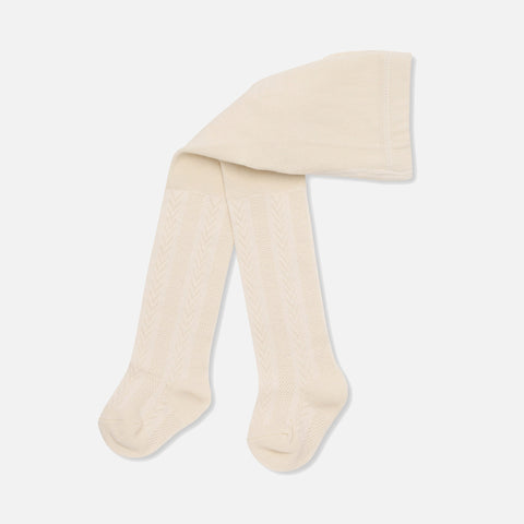 Organic Cotton Misa Pointelle Tights - Vanilla