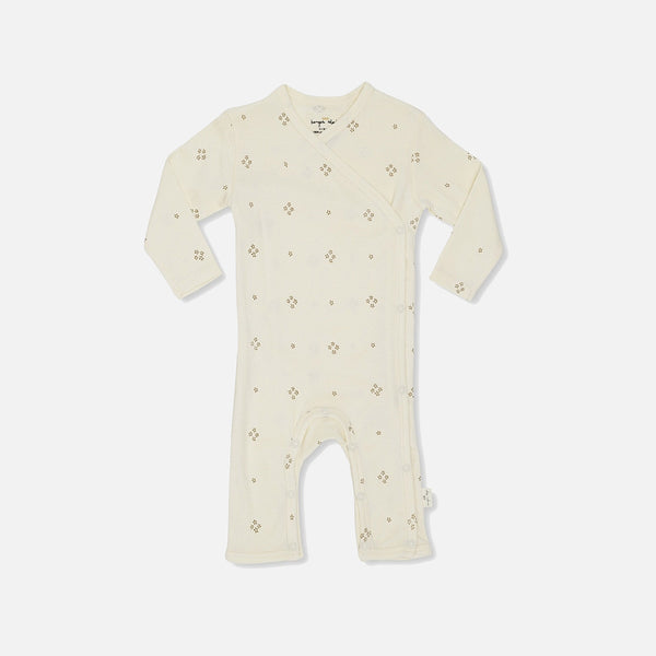 Organic Cotton New Born Wrap Romper - Camille