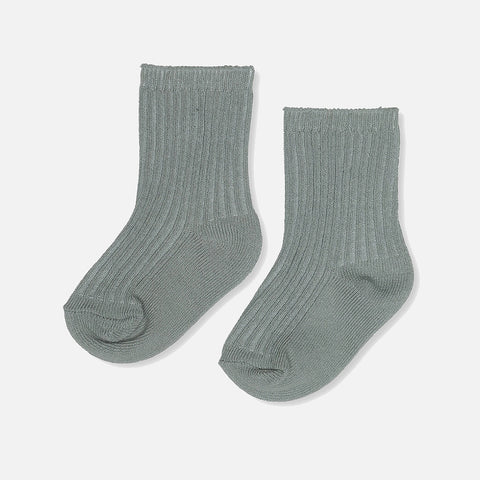 Organic Cotton Hisao Rib Socks - French Blue