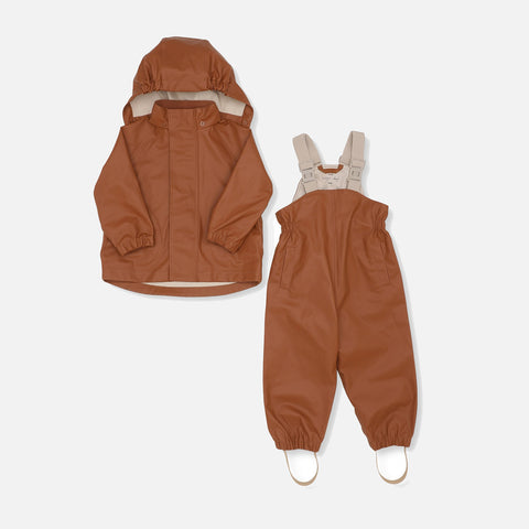 Palme Rainwear Set Solid Cotton - Caramel